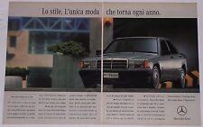 Advert Pubblicità 1993 MERCEDES 190 W201