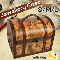 Pirate Treasure Jewelry Chest Trinket Keepsake Box Storage Organizer Gift