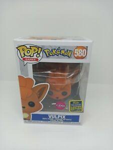 Funko Pop Pokemon Vulpix Flocked SCE 2020 exclusive 580 vinyl figure