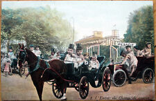 1910 Multiple Baby Postcard: Babies & Cars & Horse-Drawn Carriages