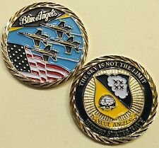 Blue Angels Demonstration Team Sky Is Not Limit Navy Challenge Coin