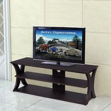 3 Tiers Entertainment Center Tv Stand Home Living Room Open Shelf Structure Dvd