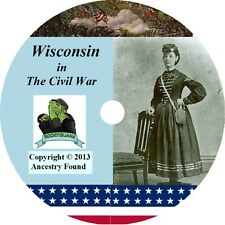 Wisconsin Civil War Books History & Genealogy 22 Books on DVD
