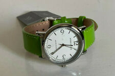 NEW! ANNE KLEIN WHITE FACE GREEN LEATHER BRACELET WATCH 10/9991WTLG SALE