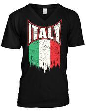 Italy Italian Flag Pride Red White Green Italiano Paisano Mens V-neck T-shirt