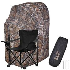 Professional Single Shooter Ground Pop-up Hunting Blind Tent Folding Chair Set