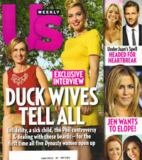 DUCKY DYNASTY WIVES US Weekly Magazine 3/31/14 JUAN PABLO JENNIFER ANISTON