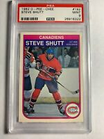 1982 O-Pee-Chee OPC Steve Shutt #192 PSA 9 Mint NHL Card Montreal Canadiens