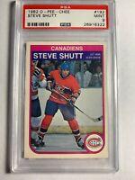 1982 O-Pee-Chee OPC Steve Shutt #192 PSA 9 Mint NHL Card Montreal Canadiens