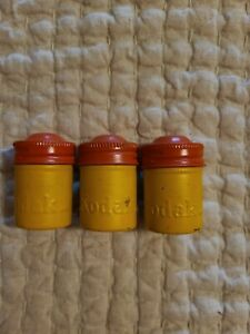(3) Kodak Film Canister Yellow & Aluminum Metal cans Vintage lot 35mm