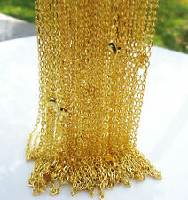 "NEW 10PCS gold plated Fine Chain Necklace With Lobster Clasp 16.5""X-G"