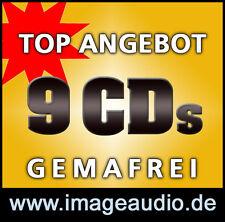 9 CDs - GEMAFREIES MUSIKARCHIV - POP ROCK BLUES - GEMAFREI FÜR FILM VIDEO etc.