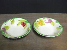 2 Cereal Bowls Fresh Fruit Multi Color Off White Franciscan Ware California