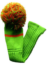 "POM POM Classic Driver Headcover in Lime Green/Orange  ""NEW"""