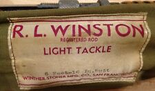 RARE R.L. WINSTON  BAMBOO LIGHT TACKLE FISHING ROD 6' 2pc
