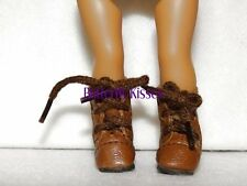 Brown Lace Up Boots 6 in Doll Clothes Fits  Mini American Girl
