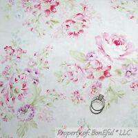 BonEful Fabric FQ Cotton Quilt Pink Purple White Cottage Rose Shabby Chic Flower