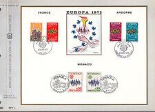 DOCUMENT CEF PREMIER JOUR  1972  EUROPA FRANCE ANDORRE MONACO