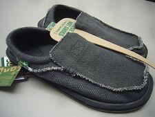32acdf70d611a5 Sanuk Mens Sidewalk Surfer Chiba Black Smf1047 BLK Size 11