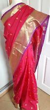 Diseñador indio paquistaní de Bollywood Sari étnico desgaste del partido Sari de seda