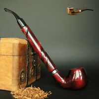 """LARGE WOODEN TOBACCO  SMOKING PIPE  CHURCHWARDEN no 65 LONG 11""""   Red  PEAR"""