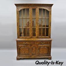 Drexel Heritage Chatham Oaks China Cabinet Cupboard Lighted Hutch Vtg186-124-6