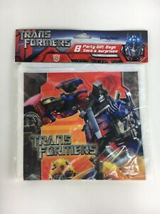 DesignWare Transformers Party Gift Bags 8 Ct