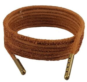 Shoe and Boot Laces Light Brown 3 mm Round Leather sizes from 45 cm - 200 cm