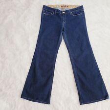 Paige Womens Jeans Size 31 Bently Wide Leg Dark Wash Denim Stretch 31 x 30