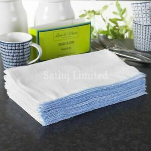 100% Cotton Dish Cloths Cleaning Cloth Washing Drying Dishes 34 x 28 cm Pack 10