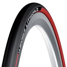 Rouge Michelin Lithion pliable Vélo Course Route Cycle Pneu 700 25c