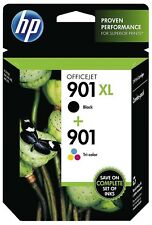 NEW HP 901 XL Black and 901 Tri-color Ink Cartridge Combo, exp. 03/2019