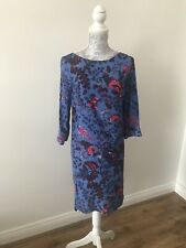 BNWT Next Floral Blue T-Shirt Dress - Casual/Formal/Party -Size UK 6