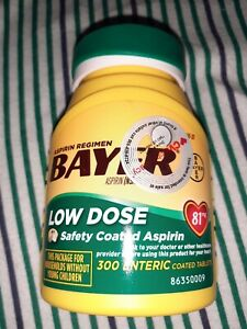 Bayer 81 mg 300 Enteric coated low Dose Aspirin Regimen