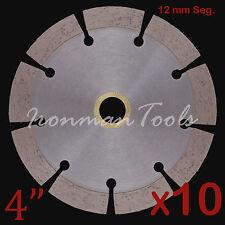 """10PK 4"""" Concrete Brick Block Paver Limestone Asphalt Diamond Saw Blade 12+mm Seg"""