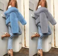 Womens Plus Size Outwear Wind Jackets Long Coats Winter Tops Outdoor Fur Coats