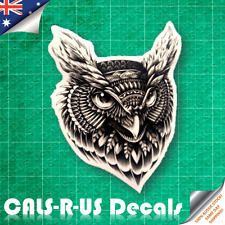 American Indian Tribe Eagle Owl Mean Stare Luggage Skateboard Car Wall Sticker