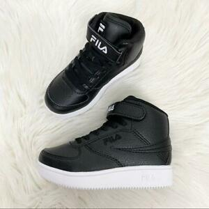 NEW Fila Toddler 11 A-High Black High Top Lace Up Sneakers