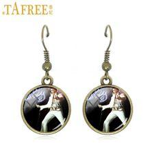 Lovely Pair Of  Elvis Presley Dangle Earrings. Stunning. In Organza Gift Bag,,,,