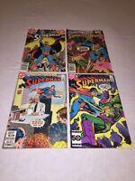 Lot of 4 SuperMan D.C. Comic Books