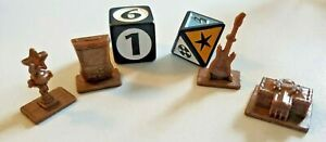 Scene It? Disney Channel Brown Replacement Tokens & Dice Game Pieces