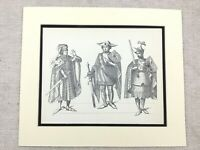 Costume Stampa 16th Secolo Olandese King William II Flanders Abito Suit Di
