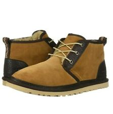 UGG Men's brown Neumel Two-toned Chukka Boots Cushion sz US 9