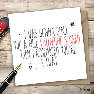 Valentine's Day Card Adult Humour Funny Quirky Rude Offensive V5
