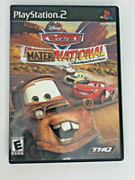 Disney PIXAR Cars Mater-National Championship 2 PS2 Complete CIB Fast Ship RARE!