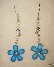 Forget me Not Alaska state flower french hook earr frosted glass stainless hooks