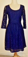 Review Lovely Dark Blue Lace Dress Size 8