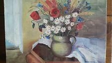 beautiful painting flowers still life Madeleine Rouart peinture France