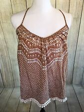 ETERNAL SUNSHINE CREATIONS BROWN & WHITE TOP STRAPPY BOHO SWING