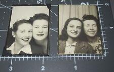 Pair of TWO Women in PHOTO BOOTH Arcade Studio Big Smiles Ladies Woman